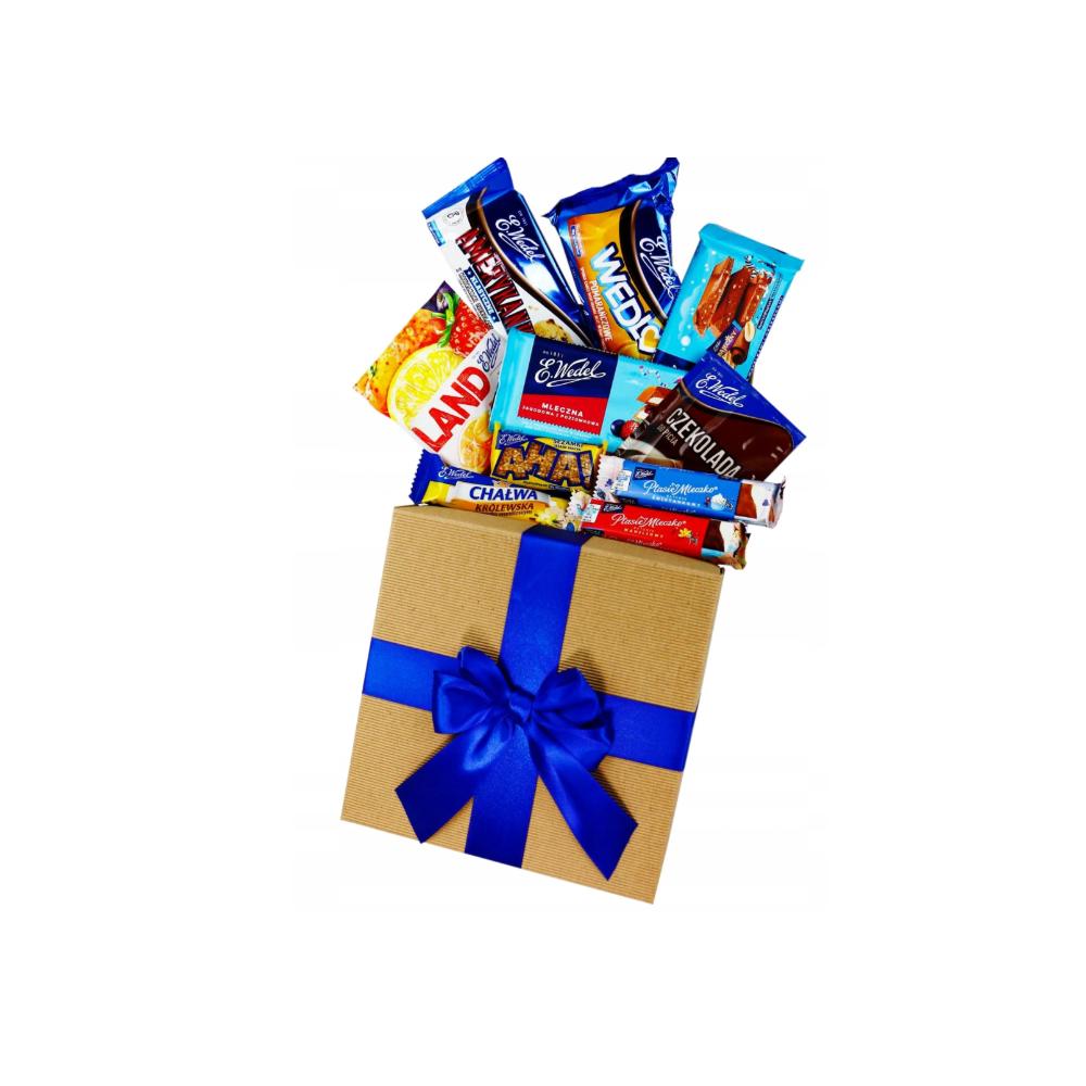 Wedel Box zestaw słodyczy kosz prezentowy E.Wedel