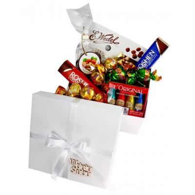 Mini Box Ślubny ze słodyczami